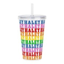 Rainbow Haley Pattern Acrylic Double-wall Tumbler