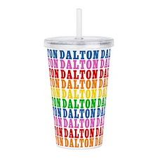Rainbow Dalton Pattern Acrylic Double-wall Tumbler