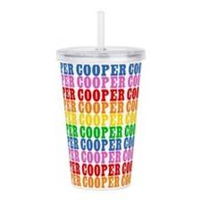 Rainbow Cooper Pattern Acrylic Double-wall Tumbler