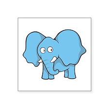 Light blue elephant Sticker