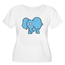 Light blue elephant Plus Size T-Shirt