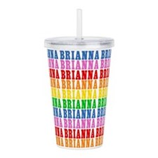 Rainbow Brianna Pattern Acrylic Double-wall Tumble