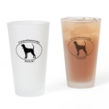 COONHOUNDS RULE Drinking Glass