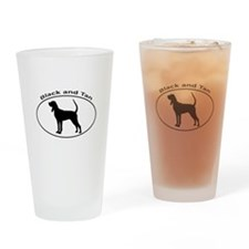 BLACK and TAN Drinking Glass