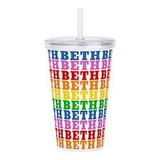 Rainbow Beth Pattern Acrylic Double-wall Tumbler