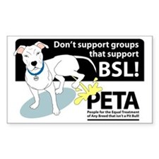 Pit Bull PETA BSL Rectangle Decal