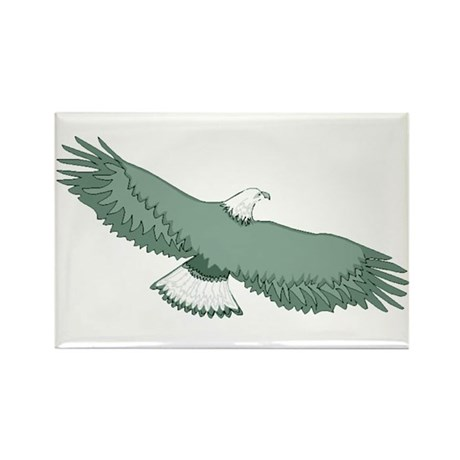 Bald Eagle Rectangle Magnet (10 pack)