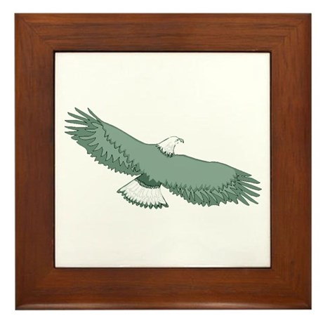 Bald Eagle Framed Tile