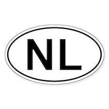 Dutch Oval Car Sticker - Nl For Netherlands