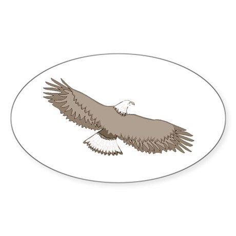 Bald Eagle Oval Sticker