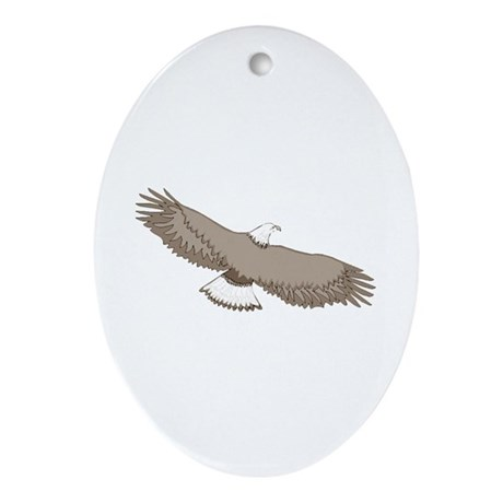 Bald Eagle Oval Ornament