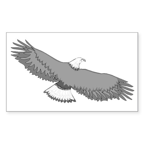 Bald Eagle Rectangle Sticker