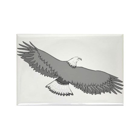 Bald Eagle Rectangle Magnet (100 pack)