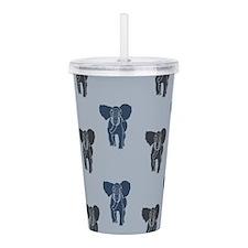 Blue Elephants Acrylic Double-wall Tumbler