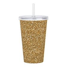 Gold Glitter Acrylic Double-wall Tumbler