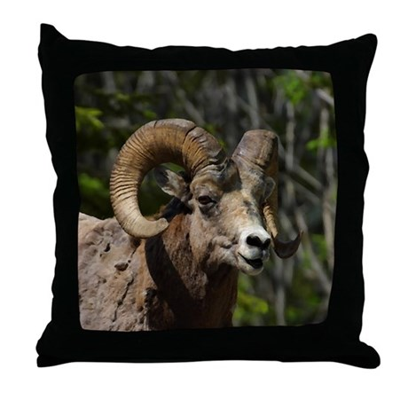 Bighorn Sheep - Ram Throw Pillow