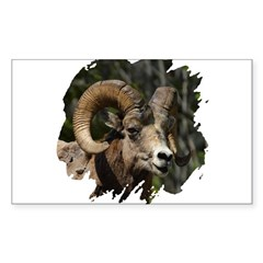 Bighorn Sheep - Ram Rectangle Sticker