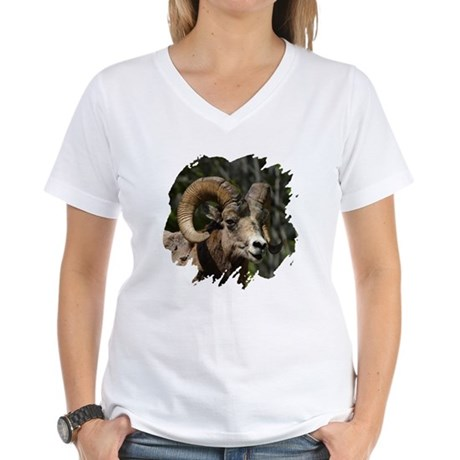 Bighorn Sheep - Ram Women's V-Neck T-Shirt