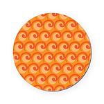 Art Deco Curl Wave orange Cork Coaster