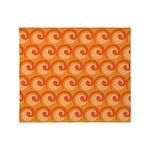 Art Deco Curl Wave orange Throw Blanket