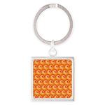 Art Deco Curl Wave orange Keychains