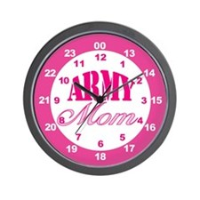 Army Mom 24-hour Military Time Wall Clock