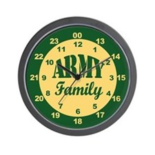 Army Family 24-hour military time Wall Clock