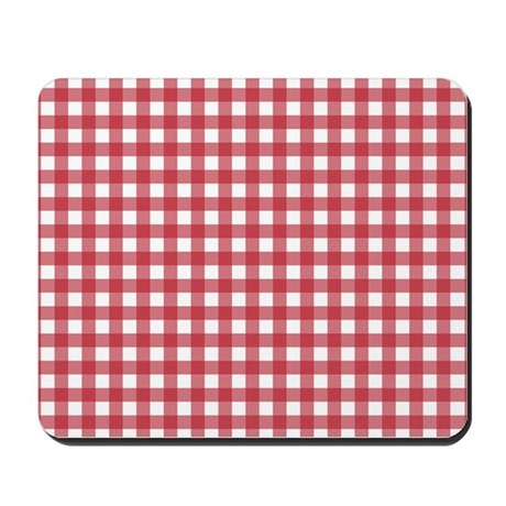 Gingham Checked Red Mousepad