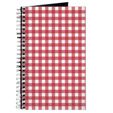 Gingham Checked Red Journal