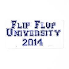 Flip Flop University Blue T Aluminum License Plate