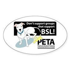 Pit Bull PETA BSL Oval Decal