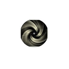 Unique Abstract spiral Mini Button