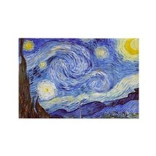 Funny Van gogh painting Rectangle Magnet