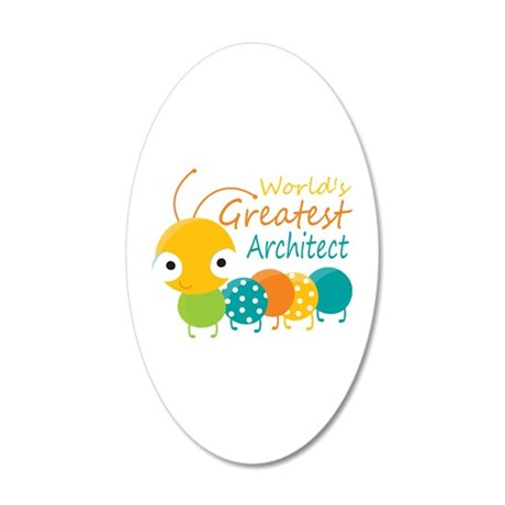 World's Greatest Architect 20x12 Oval Wall Decal