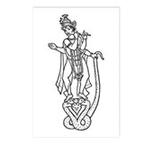 Krishna - Hindu Diety Postcards (Package of 8)