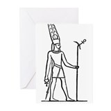 Ammon - Egyptian Diety Greeting Cards (Package of