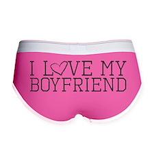 Cute I love my boyfriend Women's Boy Brief