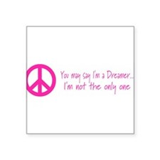 "Cute Dreamer Square Sticker 3"" x 3"""