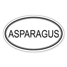 ASPARAGUS (oval) Oval Decal