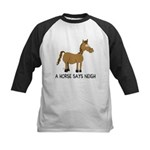 A Horse Says Neigh Kids Baseball Jersey