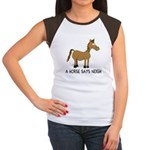 A Horse Says Neigh Women's Cap Sleeve T-Shirt