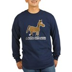 A Horse Says Neigh Long Sleeve Dark T-Shirt