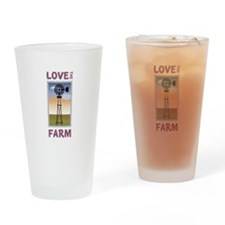 Love The Farm Drinking Glass