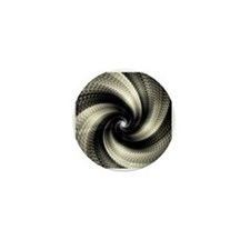 Funny Abstract spiral Mini Button