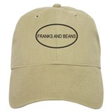 FRANKS AND BEANS (oval) Baseball Cap