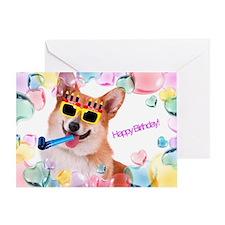 Happy Birthday Corgi Greeting Card