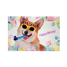 Happy Birthday Corgi Magnets