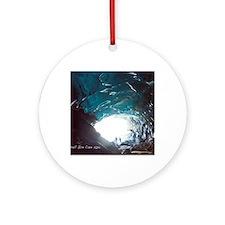 Mendenhall Glacier Ice Cave Round Ornament
