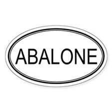 ABALONE (oval) Oval Decal