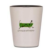 Young Grasshopper Shot Glass